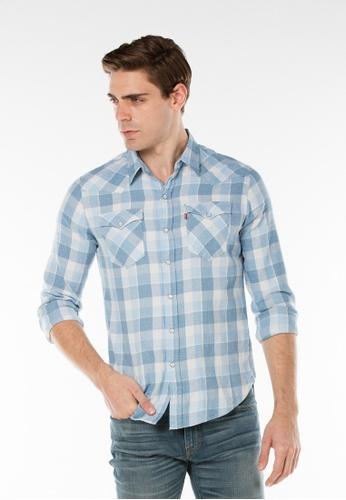Levi's blue Classic Western Shirt LE843AA97JJYSG_1