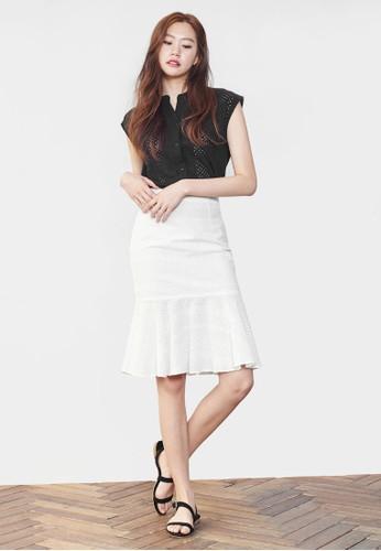 荷葉擺及膝短裙尖沙咀 esprit, 服飾, 裙子