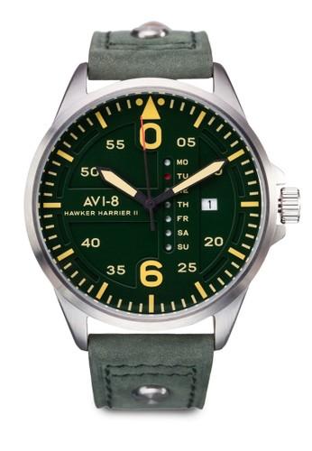 Hawker Hazalora 男鞋 評價rrier II 皮革大圓錶, 錶類, 飾品配件
