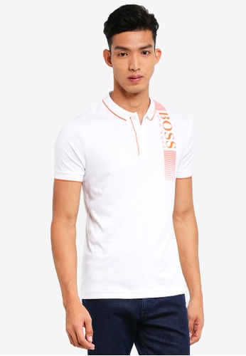 BOSS white PL-Tech Polo Shirt - Boss Athleisure CF6A0AA474669EGS_1