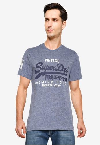 Superdry blue Vintage Logo T-Shirt C34DCAA2106E73GS_1