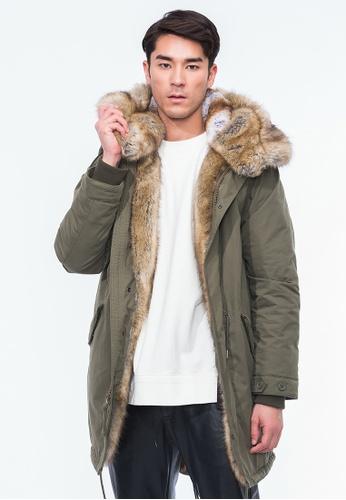 Alpha Style green Aeson Faux Fur Padded Parka AL461AA0GYGMSG_1