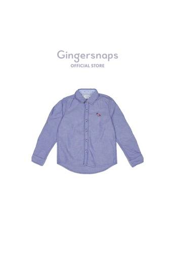 Gingersnaps navy Baby East Hampton Dude Woven Shirt Dk Blue 2A2D9KAE7F0854GS_1