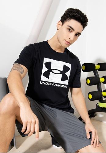 Under Armour 黑色 UA Abc Camo Boxed Logo Short Sleeve Tee 2829EAA4A8EE4CGS_1