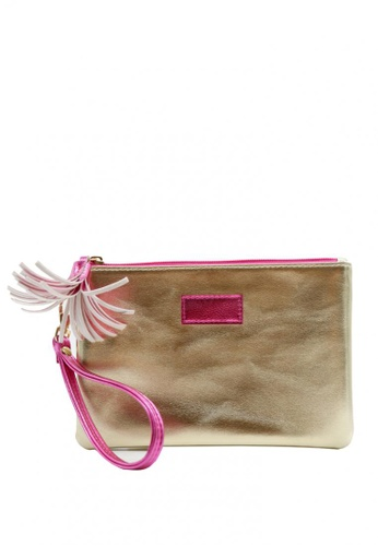 Stylesource gold Make Up Wristlet Pouch SS550 1744DBEB0F6447GS_1