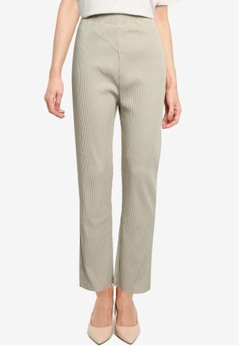 LOWRYS FARM green Ribbed Knit Pants E3444AA9A8D818GS_1