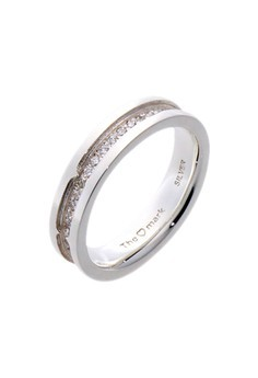 Charmed Life Silver Ring with Artificial Diamonds for Men lr0027m