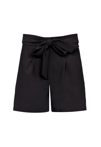 Auden Cavill 黑色 Auden Cavill Women Tie Waist Shorts 66D3DAA332E6A3GS_1