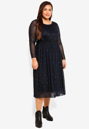 bf821bf9607 Buy Junarose Plus Size Nadia Below Knee Dress