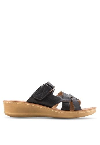 Noveni black Criss-Cross Sandals NO978SH43EOUMY_1
