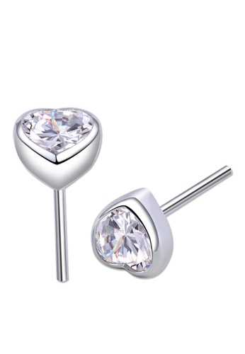 SC Tom Silver silver Heart Stud Stone Earrings 6mm SC872AC0JC28PH_1