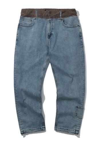 Fivecm navy Patchwork waist jeans CD1BBAA5661AF4GS_1
