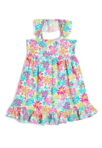 KOTON pink Sleeveless Print Dresses 88EA2KAD3843D0GS_1
