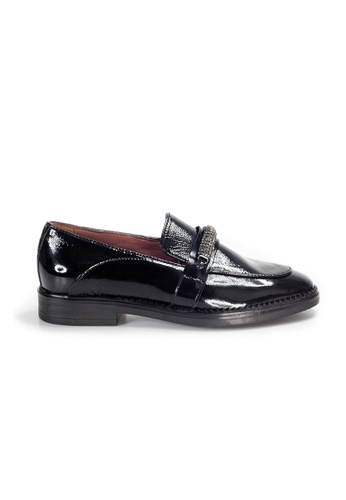 Shu Talk 黑色 LeccaLecca 歐洲手工舒適漆皮型格英式真皮皮鞋 5C055SH3FA1D79GS_1