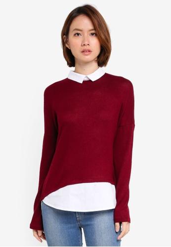 OVS red Long Sleeve Sweatshirt BC8DFAA0CB6C6DGS_1