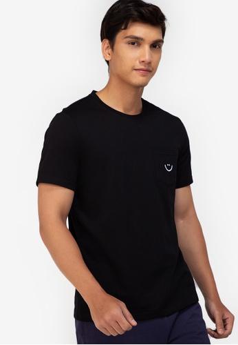 ZALORA BASICS black Smiley T-Shirt 8567DAA3D41A75GS_1