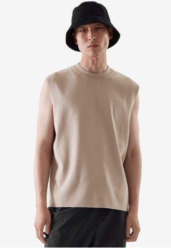 COS beige Knitted Vest D340BAA079D0EDGS_1