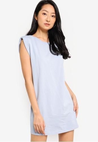 ZALORA BASICS blue Shoulder Pad Dress 58110AA98E23F6GS_1