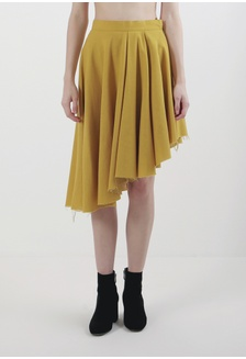 27c85e7b98 WHITEMODE Anika Skirts Rp 349.900; Mera Mera Studio's Yellow Mustard Lilia  Asymmetric Skirt