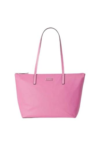 Kate Spade pink Kate Spade Hayden WKRU6537 Top Zip Tote Bag In Ruffled Pansy 75108AC5C6F0DDGS_1