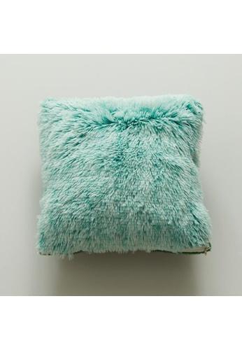 DILAS HOME Basic Plush Cushion Cover (Green) C5CCEHLEC32E1CGS_1
