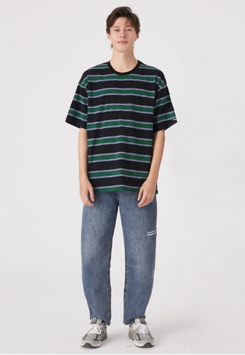 Twenty Eight Shoes Oversize Contrast Stripe T-Shirts HH0261 9B6ACAA0D66873GS_1
