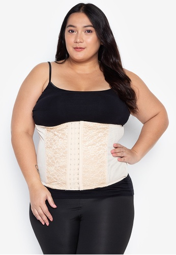 Golden Ticket Super Savers beige Plus Size Waist Trainer for Daily Use 454AAUS655D92EGS_1