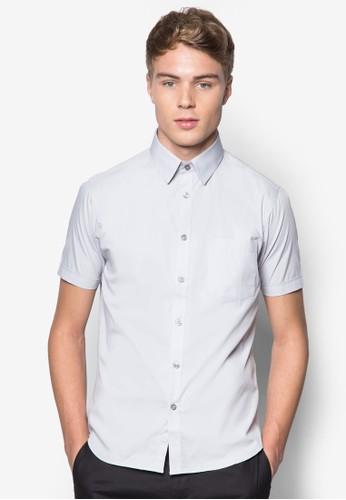 基本款棉質短esprit暢貨中心袖襯衫, 服飾, 素色襯衫