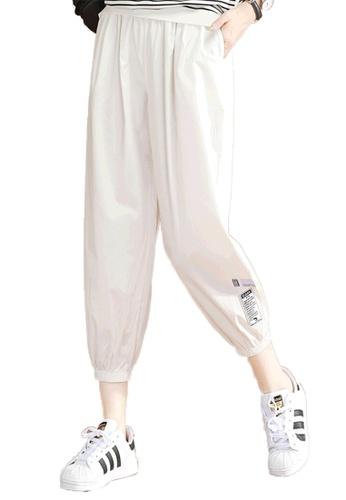A-IN GIRLS white Elastic Waist Sweatpants FA343AAFD30FA1GS_1