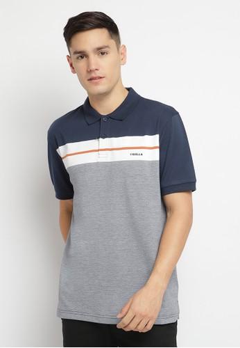 Osella navy Osella Baju Pria Polo Shirt Garis Navy Putih Grey 5F901AAA24DF9BGS_1