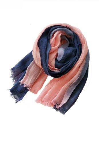 HAPPY FRIDAYS Cotton Yarn Mix Color Tie Dye Scarf JW JS-1100 ED048ACB3C2CB4GS_1