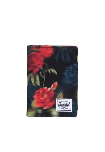 Herschel multi Herschel Unisex Raynor Passport Holder Blurry Roses 6B7F9ACBD8362CGS_1