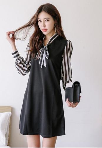 9cbc7c0d4a674 Crystal Korea Fashion black Korea New Perspective Hand Sleeve Elegant Dress  CR681AA62PFXHK 1