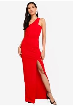 c832e9fa3f4 AX Paris red Asymmetric Maxi Dress D4CC1AA47BB88EGS 1
