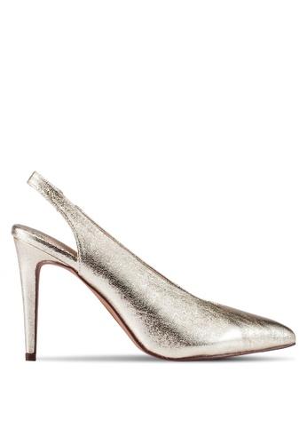 Dorothy Perkins gold Gold Georgina Court Heels DO816SH0RV4PMY_1