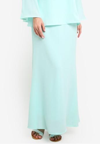 BYN green Duyong Skirt BY059AA45VKCMY_1