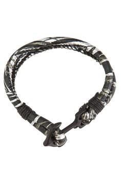 船錨扣條紋紡織手環