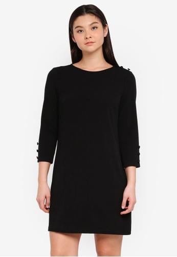 Dorothy Perkins black Black Button Shift Dress FF4E5AAF7E449FGS_1