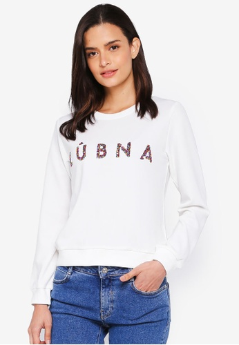 Lubna white Lubna Embellishment Jumper 4116CAA5490AB6GS_1