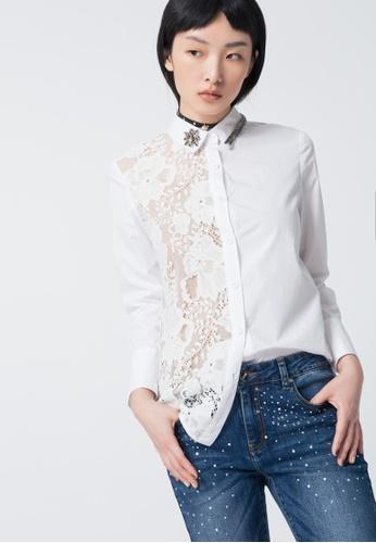 iROO white White Shirt 073ECAA2F157E0GS_1