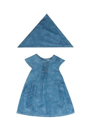 Babybol blue Baby's Dress And Headscarf CA8AEKAD195F1DGS_1