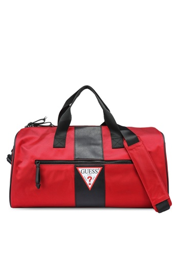 Guess black and red Central Small Duffel Bag 24D42AC4E72E13GS_1