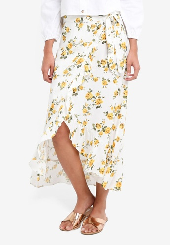 Miss Selfridge white Floral Maxi Skirt B6629AABBDF95BGS_1