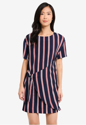 ZALORA navy Overlay Dress With Buckle Detail 1FD58AA8232371GS_1