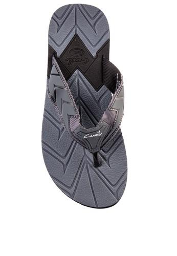 CARVIL black Carvil Sandal Sponge Man Aston Black Grey FC06CSHA7DDA46GS_1