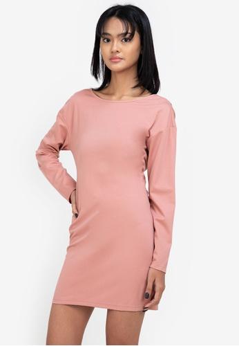 ZALORA BASICS pink Jersey Twist Back T-Shirt Dress F22C7AAAB88E28GS_1