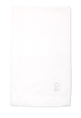 Organic mom white Organic Cotton Clark Elephant Swadding Blanket A4696KCF394BA7GS_1