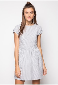 Extended Sleeves Woven Dress