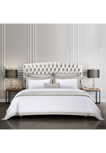 Epitex Epitex Hotel Collection HC2301-4 1200TC White / Silver Bedset. 7540BHL6839420GS_1