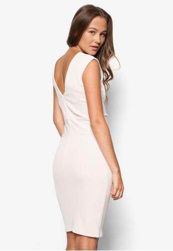 羅紋貼身無袖連身裙,zalora 衣服尺寸 服飾, 洋裝
